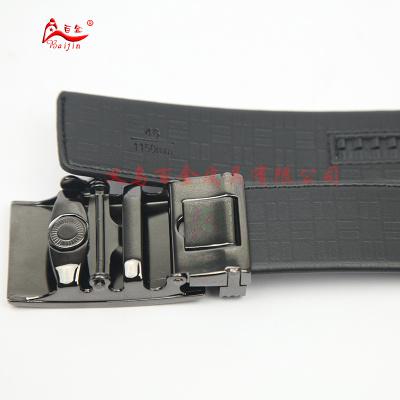 Fushida five inch folding package automatic buckle male leather belt
