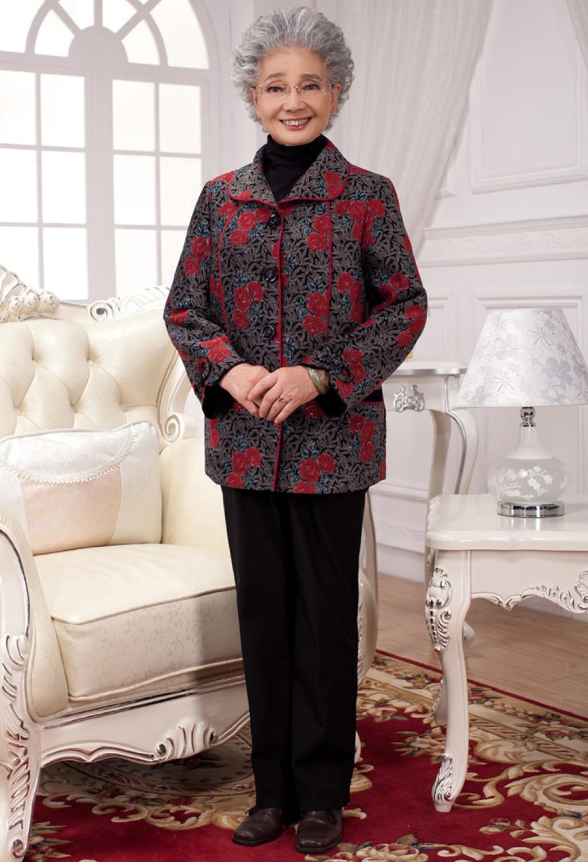 码胖老人衣服胖奶奶装秋装老年服装女装老太太外套