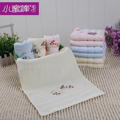 Cotton towels velour towel gift sets of towel towel plum bee towel 6866