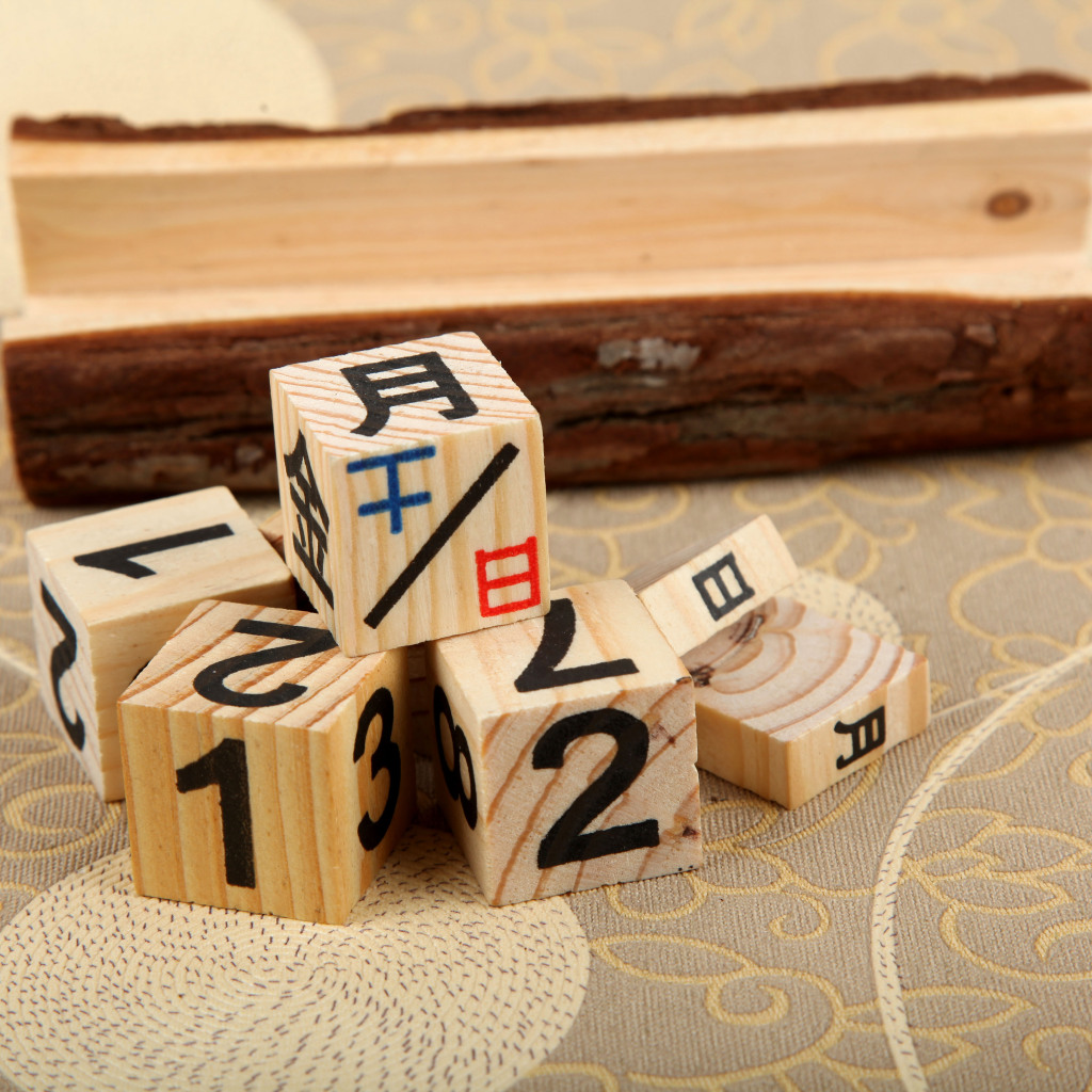 木头制作日历摆件