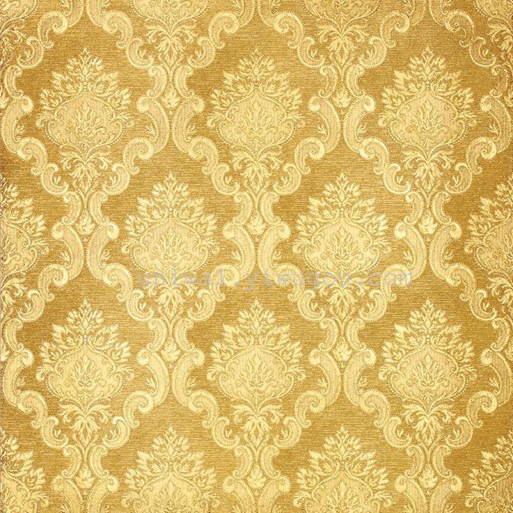 金箔纸墙壁纸金黄色图案电视背景墙大厅ktv酒店壁纸