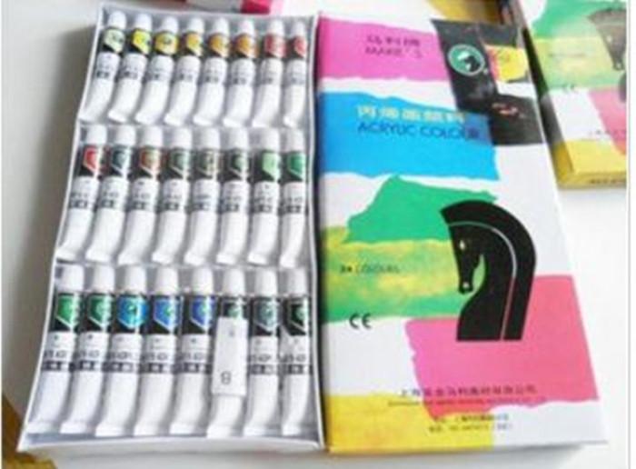马利丙烯颜料 24色丙烯画颜料