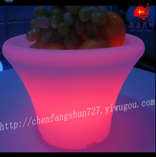 Custom led big flowerpot colorful plastic flower POTS fashionable/creative flowerpot festival decoration flower pot