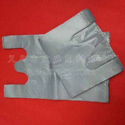 Silver gray plastic bag vest bag vest bag bag size selection of 100 a pack