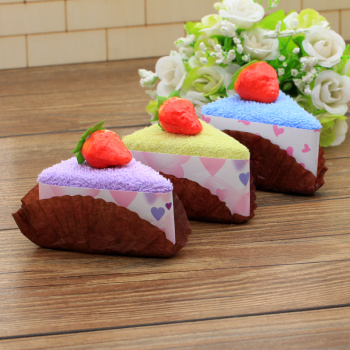 Bagged small triangle towel wholesale creative gift accessories towel towel crafts