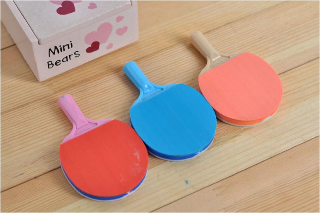 清新可爱乒乓球造型橡皮 学生奖品批发