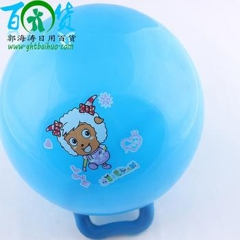 Handle ball-factory direct sales for two dollar store wholesale children's toys, inflatable balls 25710b