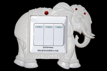 New ABS material dripping oil switch plated silver elephant 86mm switch stickers