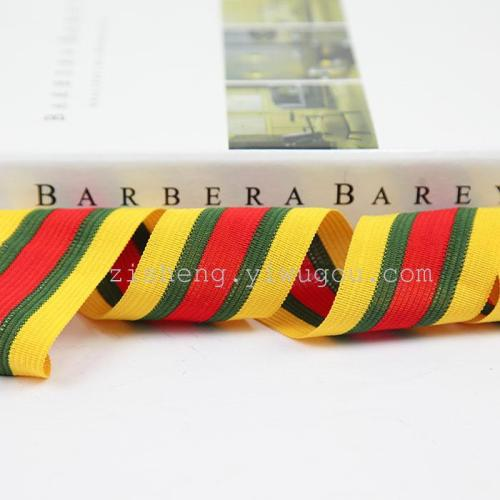 Knitted striped no-elastic garment accessory
