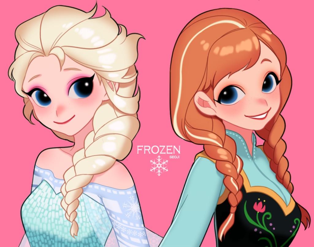 白色冰雪奇缘姐妹大辫子假发 cosplay假发 定做动画假发