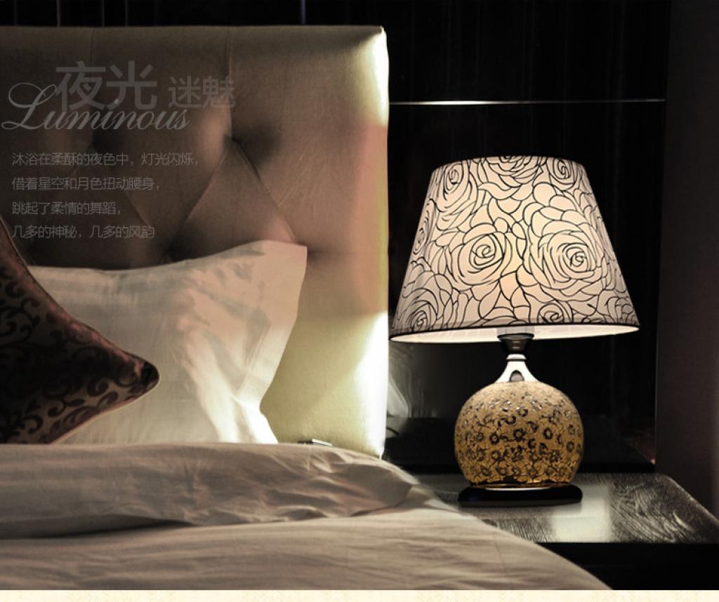 现代时尚台灯卧室床头台灯具温馨欧式台灯卧房台灯婚房台灯b01