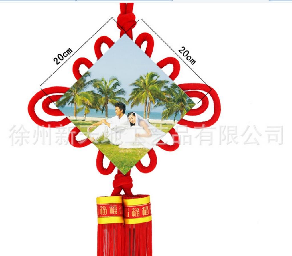 绒布相框红色喜庆挂件家居装饰中国结新奇特产品