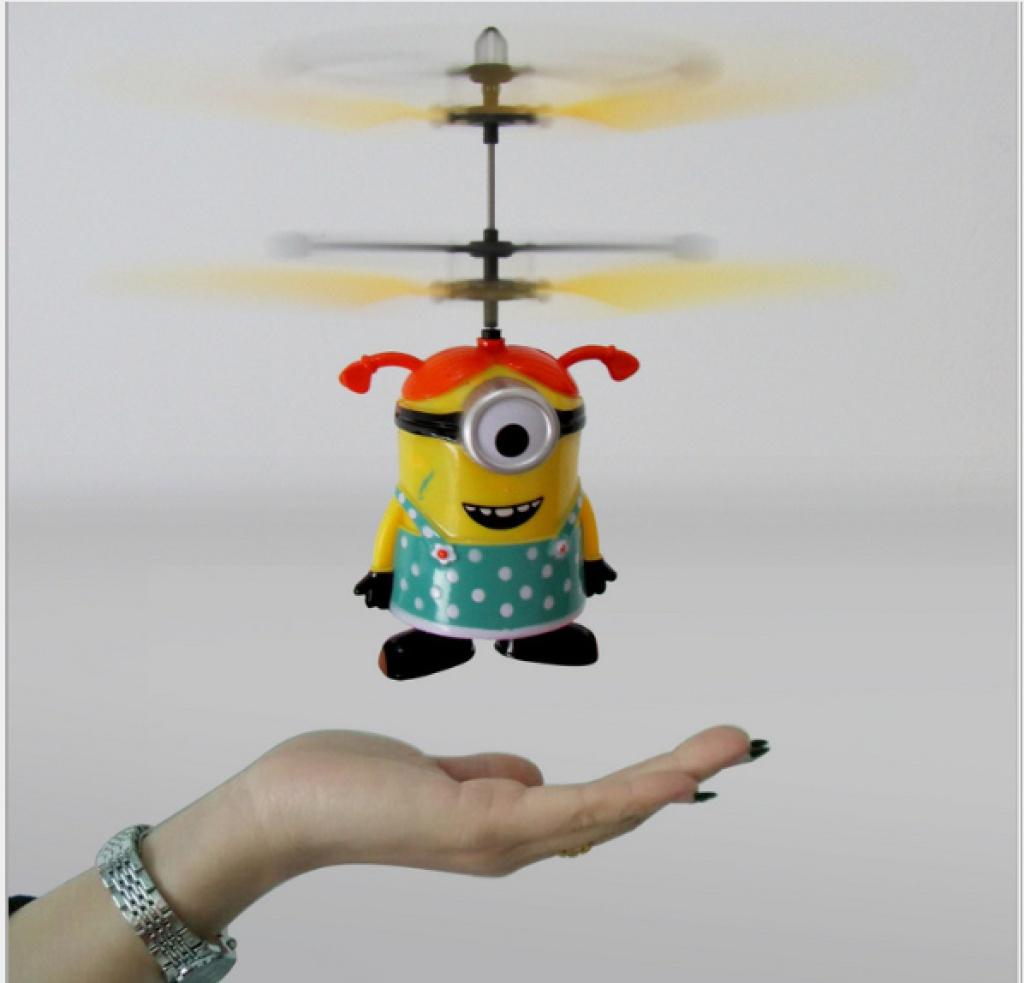 电子感应玩具小飞仙充电会飞的芭比公主感应飞机电动