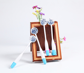 Landscape painting craft ideas craft pen blue and white porcelain series gift pens