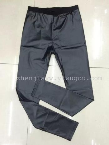 2015 explosions breathable leather pants, high elastic pants of comfort of nine weight-factory direct wholesale