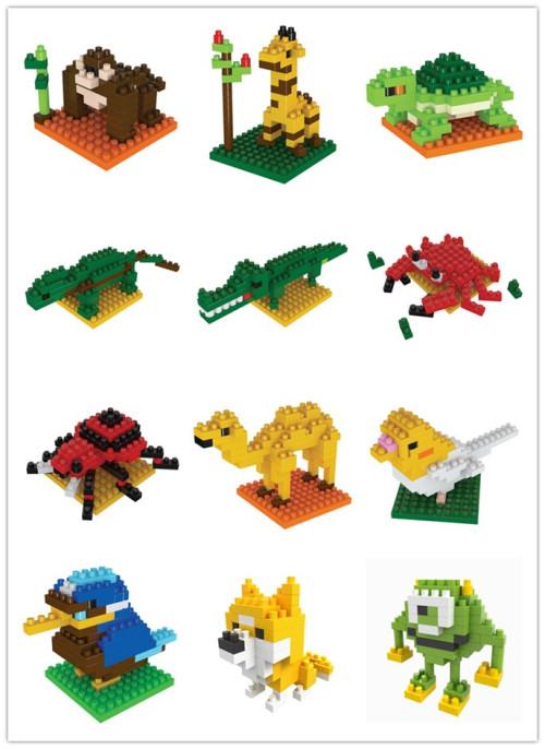 boyu钻石积木乐高式玩具迷你小颗粒拼装积木动物系列