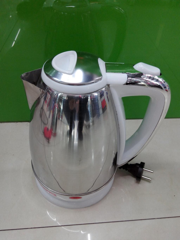 外贸欧式插头不锈钢彩色电热水壶厂价直销