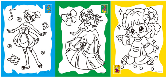 六连体水彩画 儿童填色画涂色画DIY 幼儿园涂鸦画