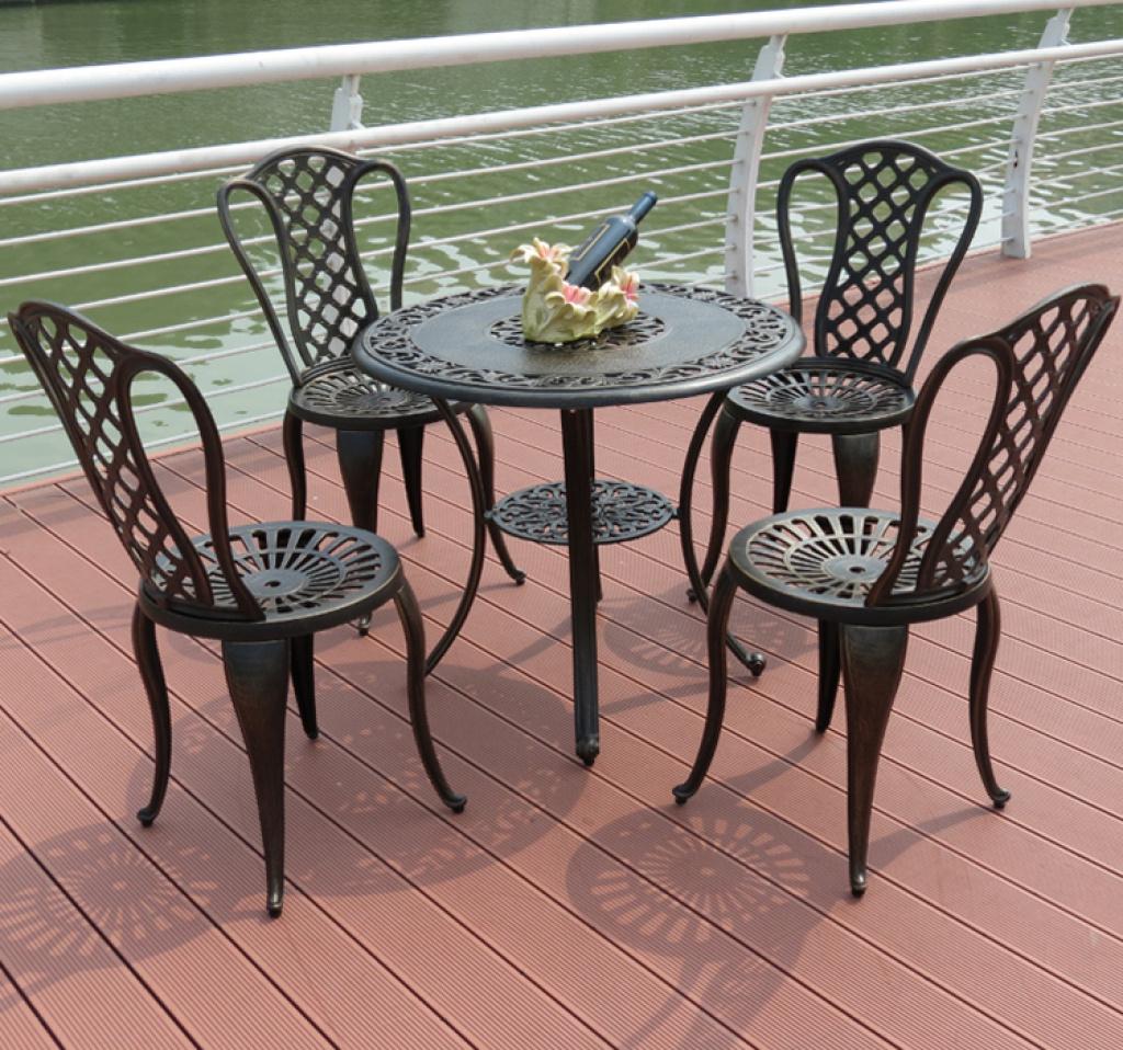 户外家具桌椅花园室外阳台铸铁桌椅室内休闲铸铝桌椅图片