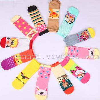 Japanese and Korean cute cartoon girls socks cotton stereo wave stripes animal fun boat socks socks