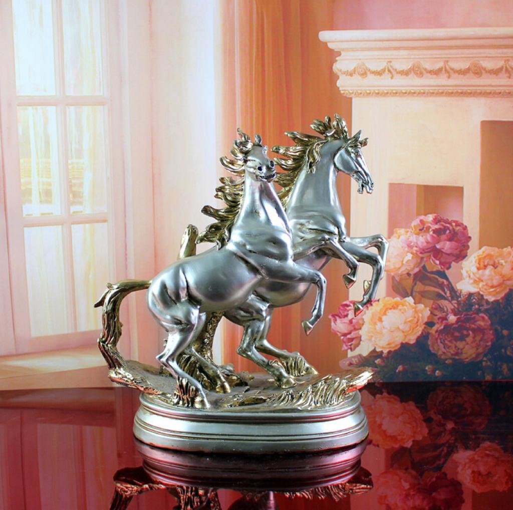 马摆件树脂动物工艺品摆设