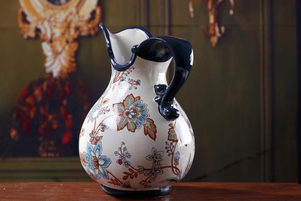 陶瓷工艺品 欧式插花瓶家居工艺礼品摆件xc163