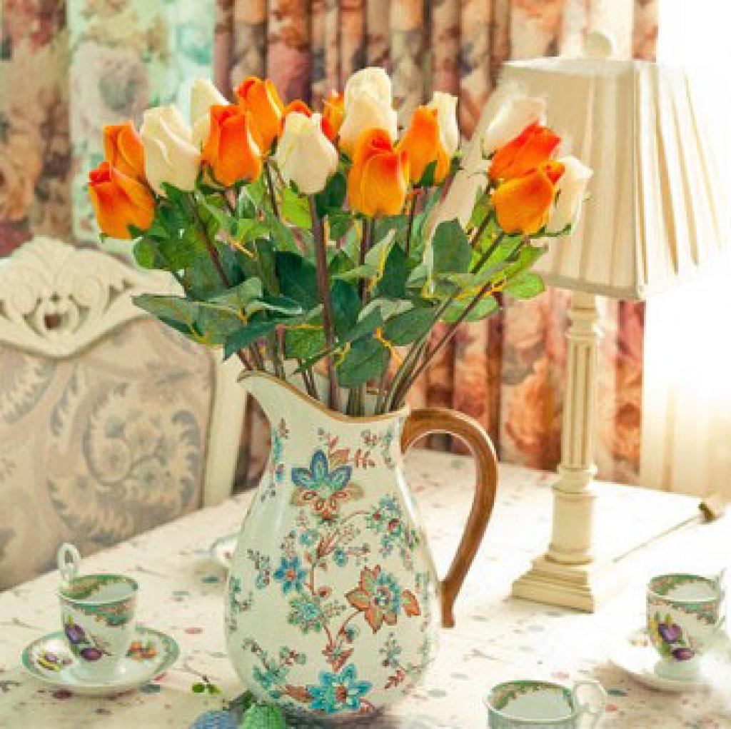 欧式手绘陶瓷创意花瓶 客厅装饰品摆件 批发 xc157