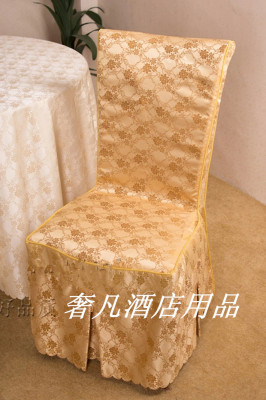 Luxury hotel wedding Jacquard tablecloth restaurant wedding chair covers