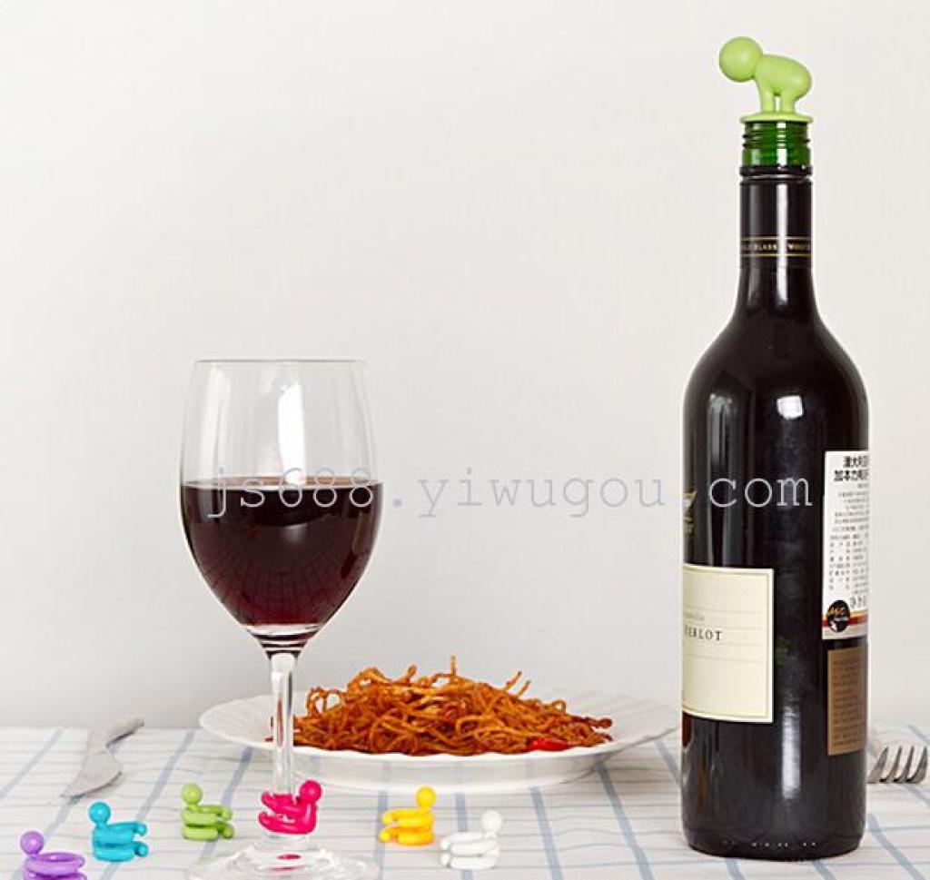 硅胶啤酒塞红酒瓶塞创意红酒塞开酒具真空保鲜瓶盖
