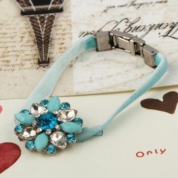 эластичные веревку кристалл цветочный браслет