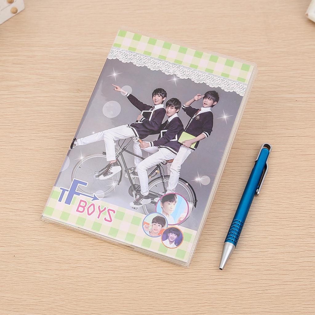 新款tfboys时尚封面笔记本青春活力可爱流行个性学生记事本