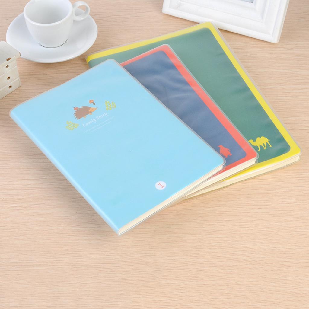新款青春时尚封面学生笔记本 可爱卡通幸福故事小松鼠胶套记事本