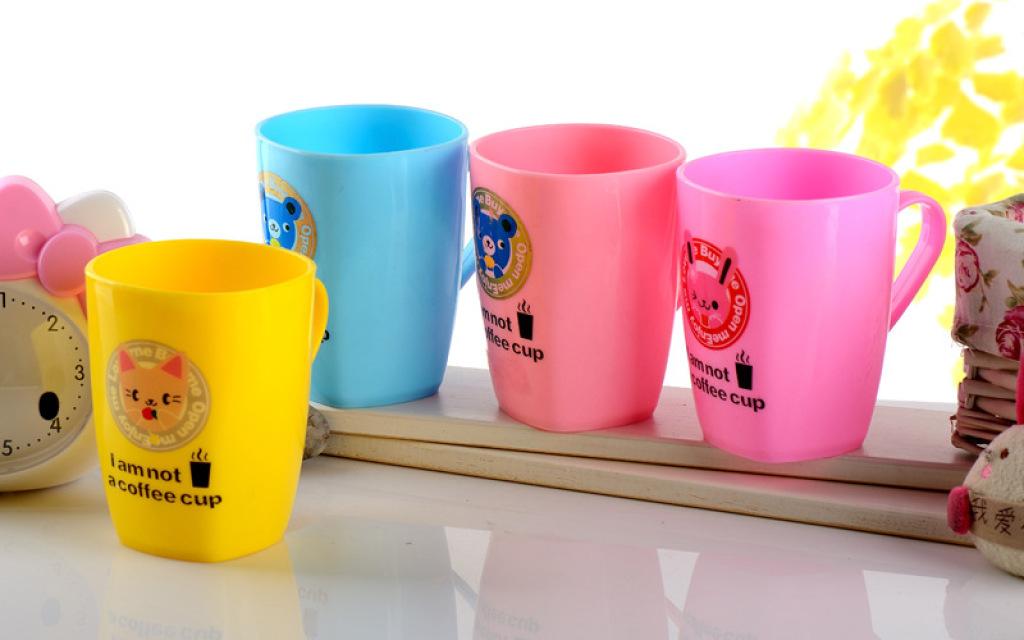 塑料可爱卡通水杯喝水杯口杯