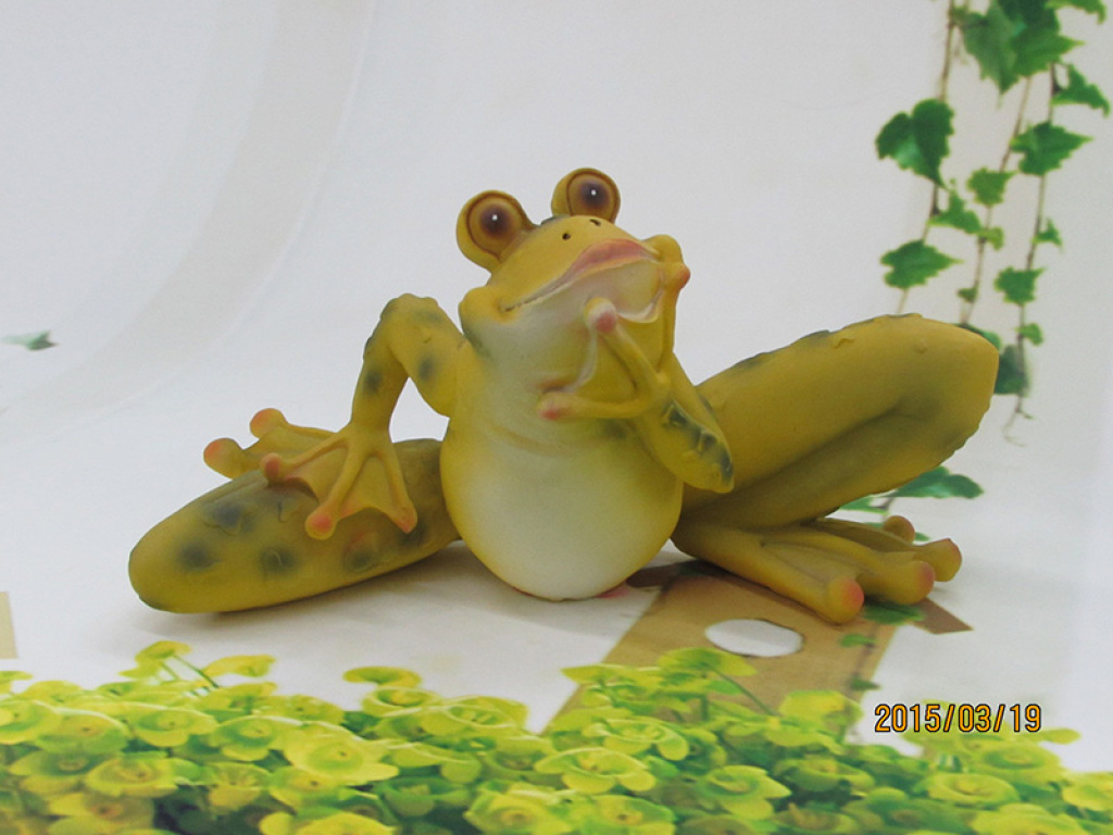 Frog Animal Ornaments Resin Crafts Decorative Ornaments Home Furnishing  Garden