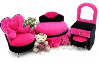 Classic fabric jewelry box marry Valentine's day birthday gifts