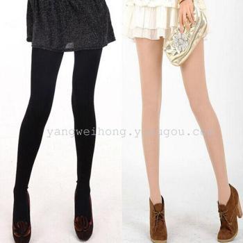 Spring and autumn 80D velvet stockings panty toe pants leggings women snag slimmer legs and fall-proof socks