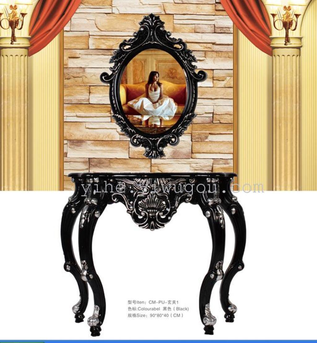 欧式玄关|关系黑颜色玄关批发|酒店ktv装饰画镜子