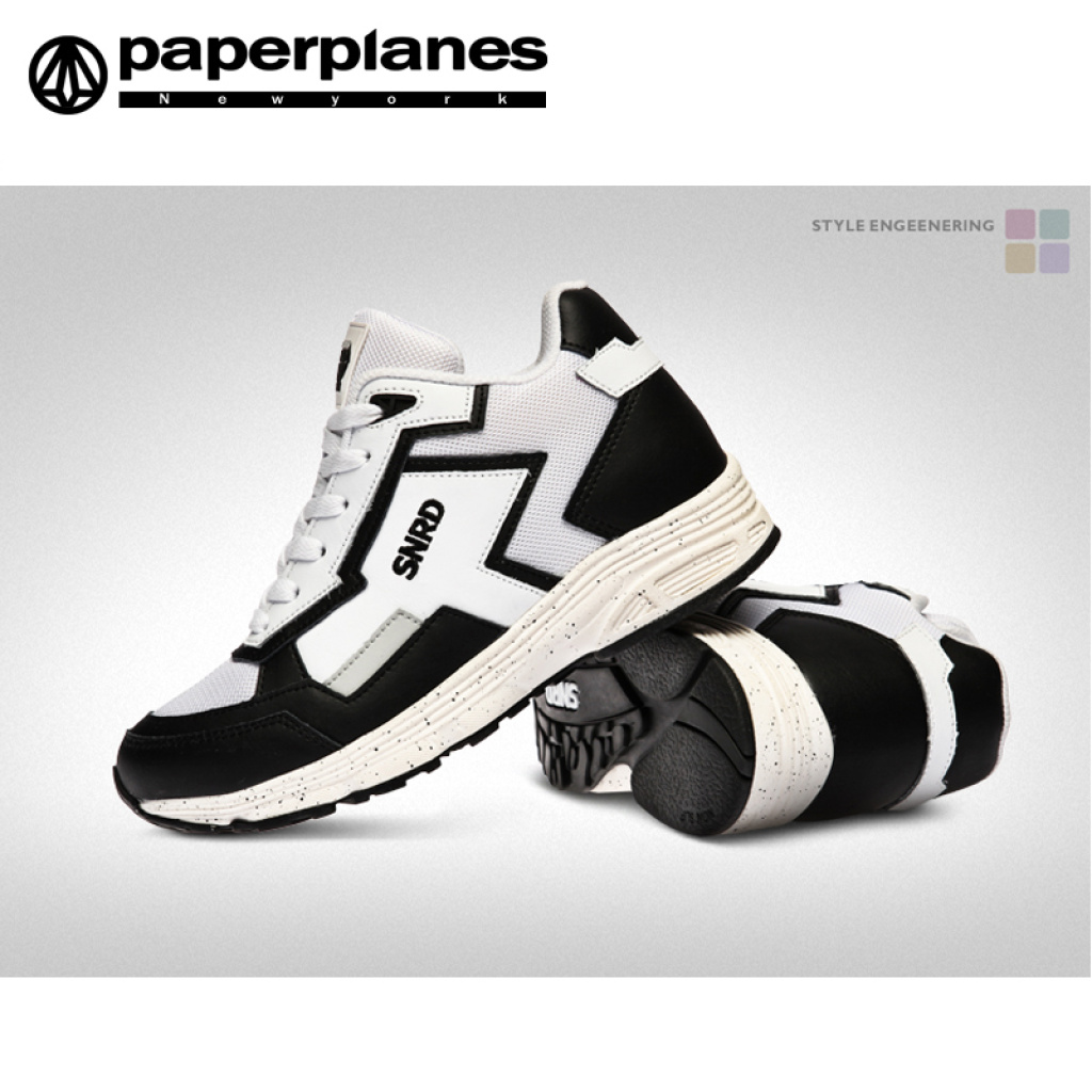 韩国进口纸飞机现货情侣内增高运动鞋春