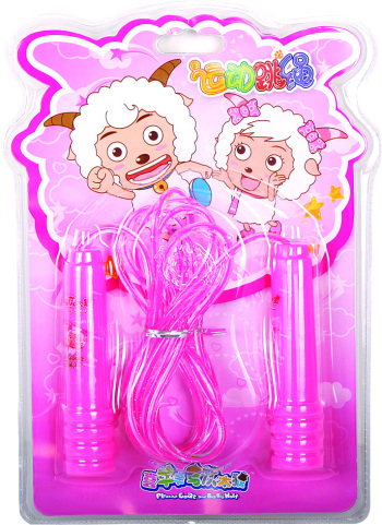 Pleasant goat and Wolf jump rope YY-241 pleasant goat children two-tone rope skipping