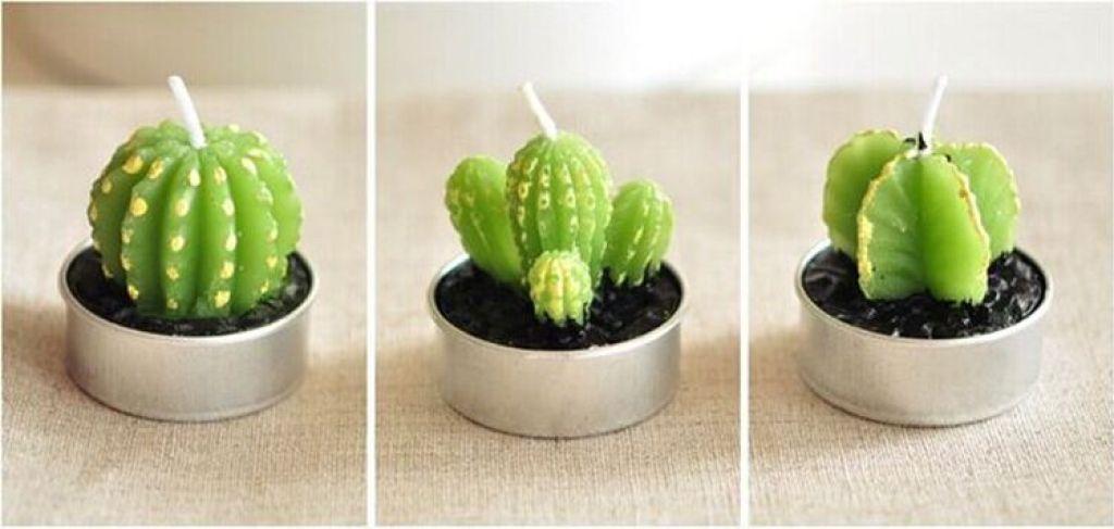 仙人掌创意蜡烛 可爱多肉植物盆栽蜡烛