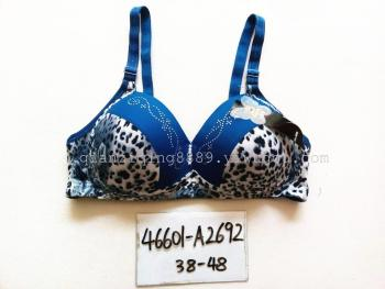 Bras wholesale trade bra no rims factory direct hot drilling of thin cotton Leopard print bra 46601