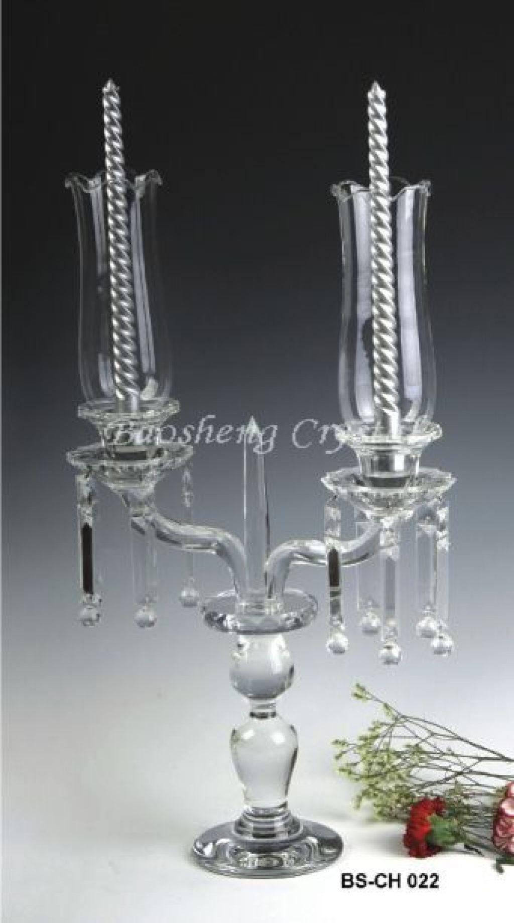 欧式婚礼水晶烛台布置效果图
