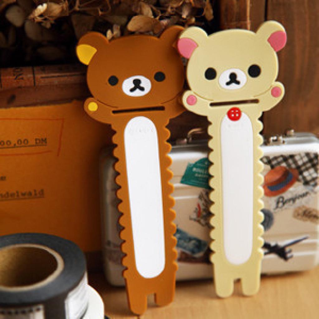 韩国文具 锯齿形可爱轻松熊