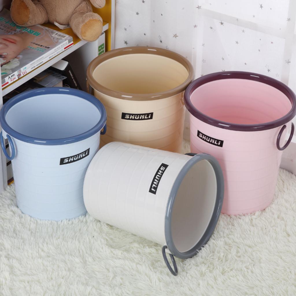 垃圾桶大号无盖废纸桶带压圈厨房卫生间卫生桶纸篓