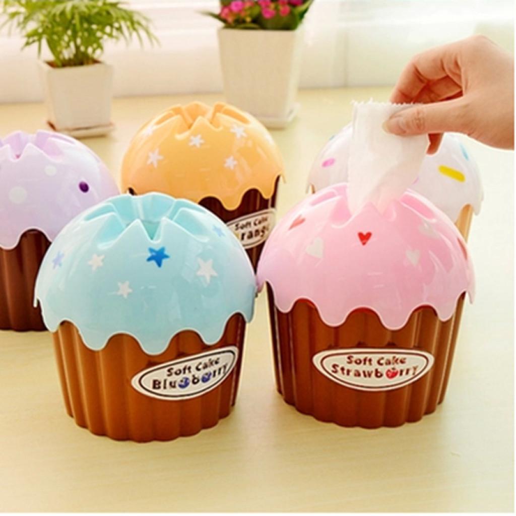 6066可爱冰激凌蛋糕纸巾筒 创意卷纸纸巾抽圆桶塑料纸巾盒子