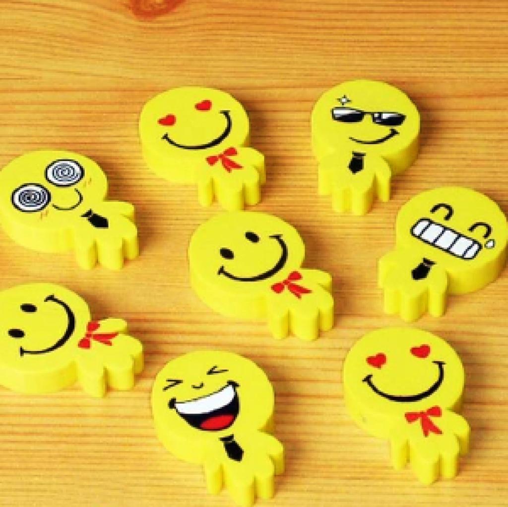 2015新款 可爱笑脸表情 小人 橡皮擦 学生奖品