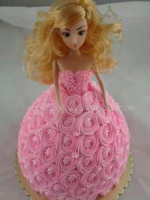 Korean version of solid confused Barbie bag ornaments ornament cake model toys for girls