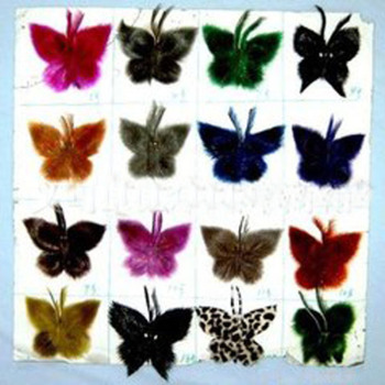 Real fur seals IRIS headgear of colorful clothing accessories flower crafts flowers