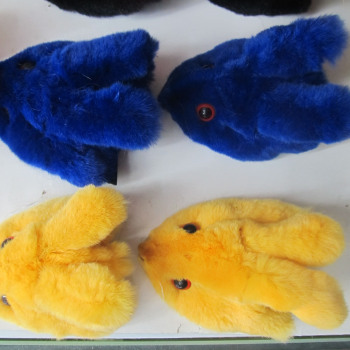 Rex rabbit fur rabbit head color bags shoes jewelry accessories/craft pendants