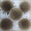 King size leather raccoon full fur ball/Ball Mobile clothing shoes bags accessories hats straw yellow 15 cm